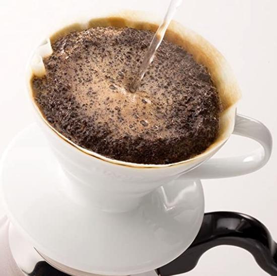 Hario V60 Coffee Dripper 02 White (PP)_1 Ashcoffee