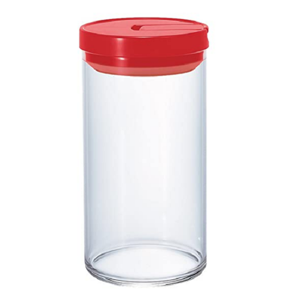 Hario Coffee Canister Glass 1L Red_1 Ashcoffee