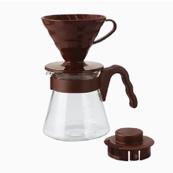 Hario V60 Coffee Server 02 Set Chocolate Brown_1 Ashcoffee