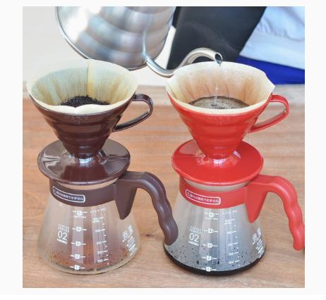 Hario V60 Coffee Server 02 Set Chocolate Brown_2 Ashcoffee