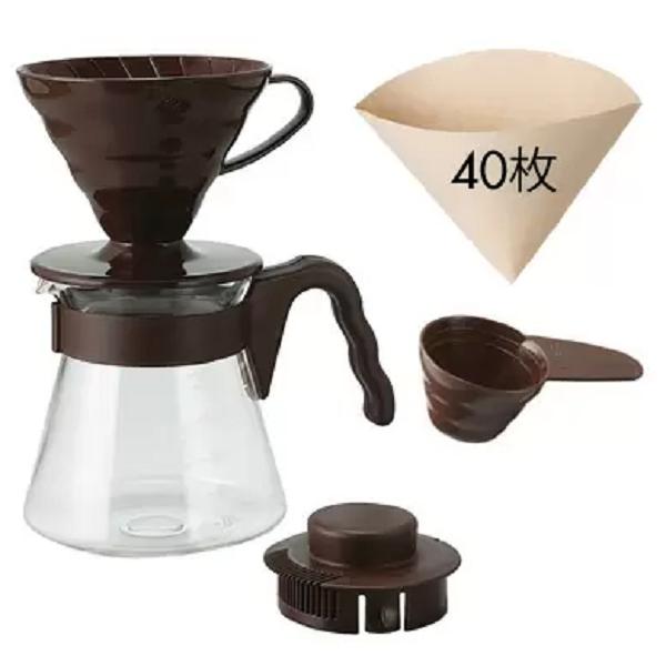 Hario V60 Coffee Server 02 Set Chocolate Brown_3 Ashcoffee